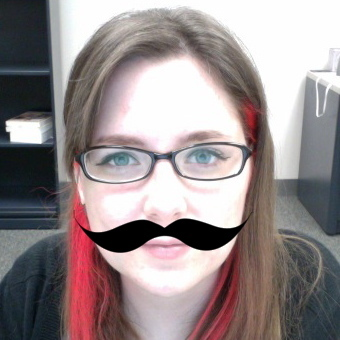 Lindsey with mustasche